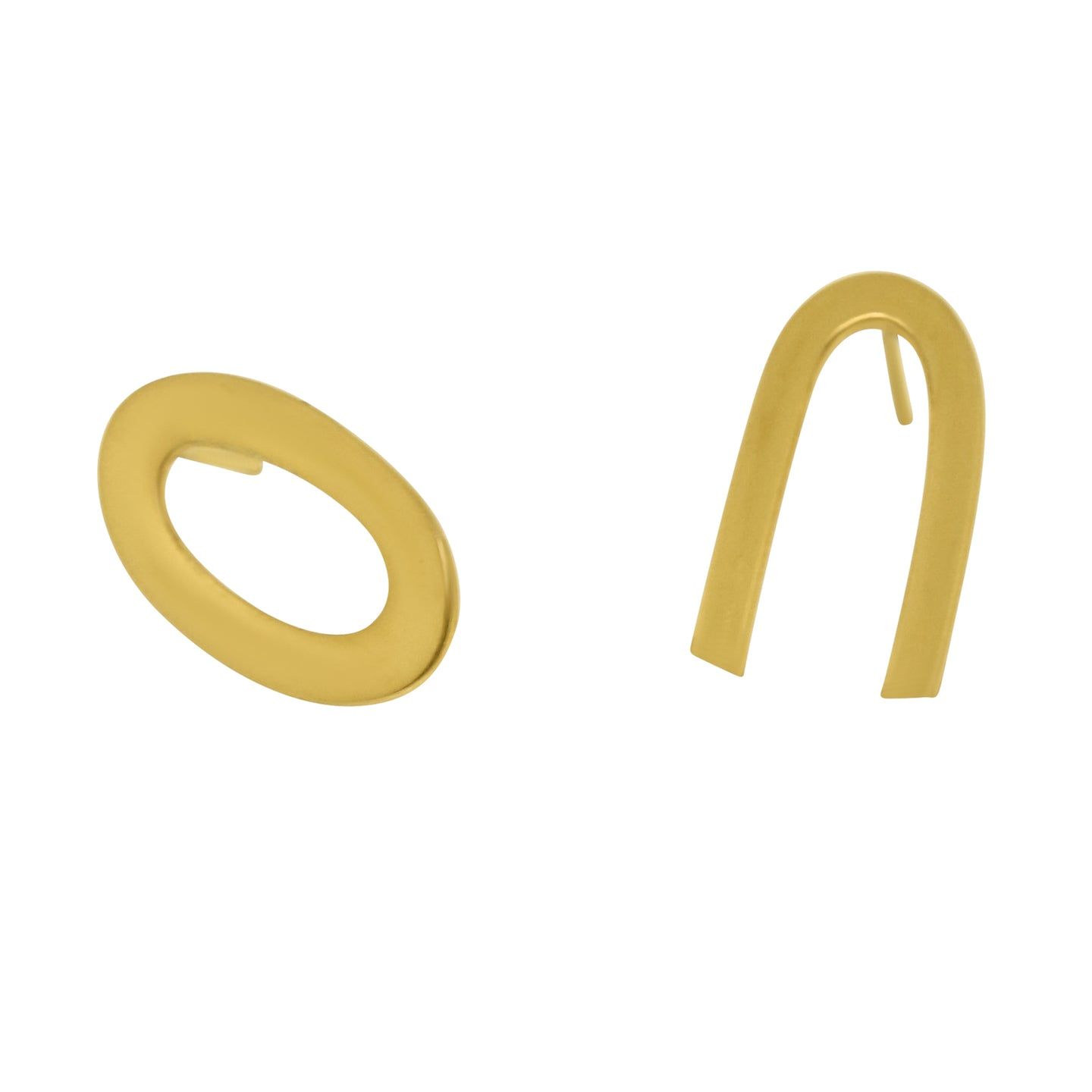MyJulz - Asymmetrical Gold Earrings (Brass and 18k Gold Plated Assymetrical Earrings)