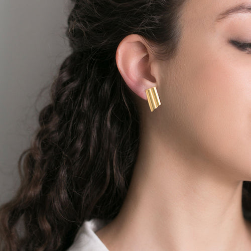 Unique Gold Bar Earrings
