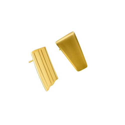 MyJulz - Bars of Gold Earrings (18k bar shaped gold earrings)