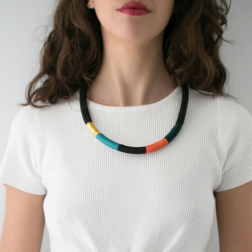 African inspired colourful handmade necklace