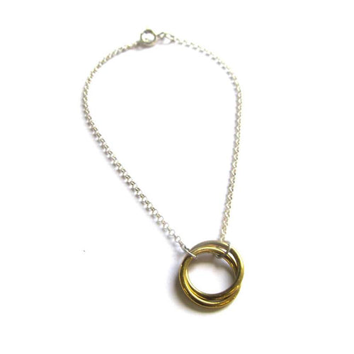 MyJulz - Brass and Silver Circle Bracelet