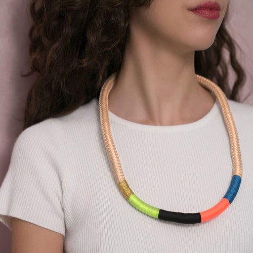 MyJulz - Colourful African inspired handmade chunky necklace