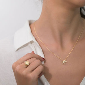 MyJulz - Floating Gold Bow Necklace