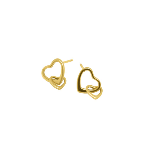 MyJulz - Gold Love Heart Earrings