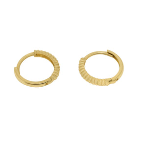 MyJulz - Gold Rope Sleepers 14k Earrings