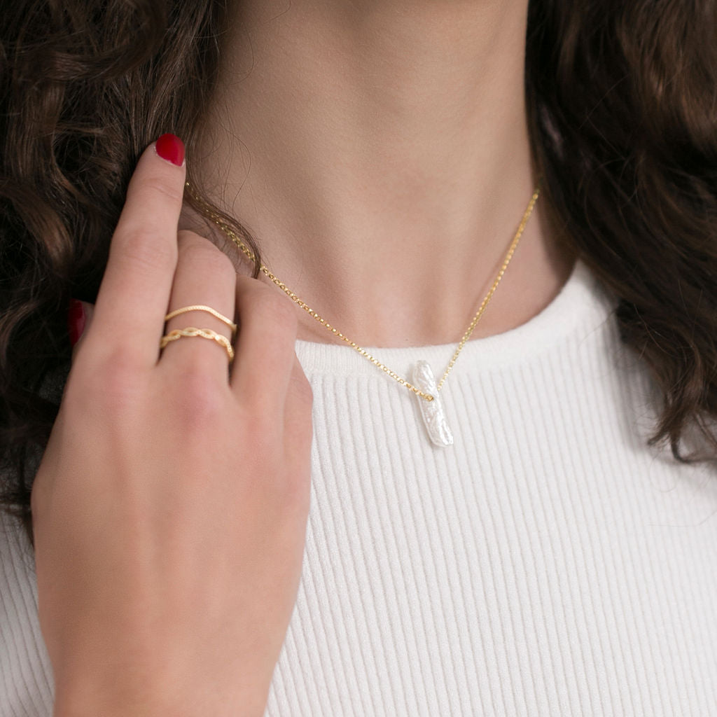Minimalist solid 14k gold ring