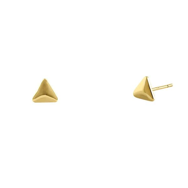 MyJulz - Gold Triangle Earrings Solid 14k Gold