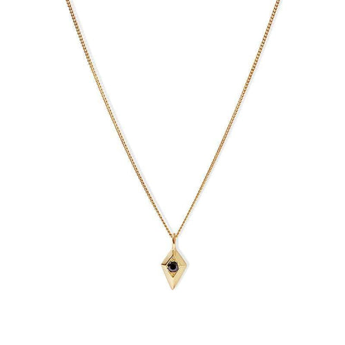 MyJulz - Gold Kite Necklace - 18k gold sterling silver necklace with gold plated kite pendant