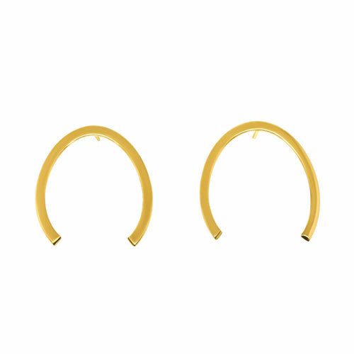 MyJulz - Lucky Gold Earrings (Gold plated brass horse shoe shaped earrings)