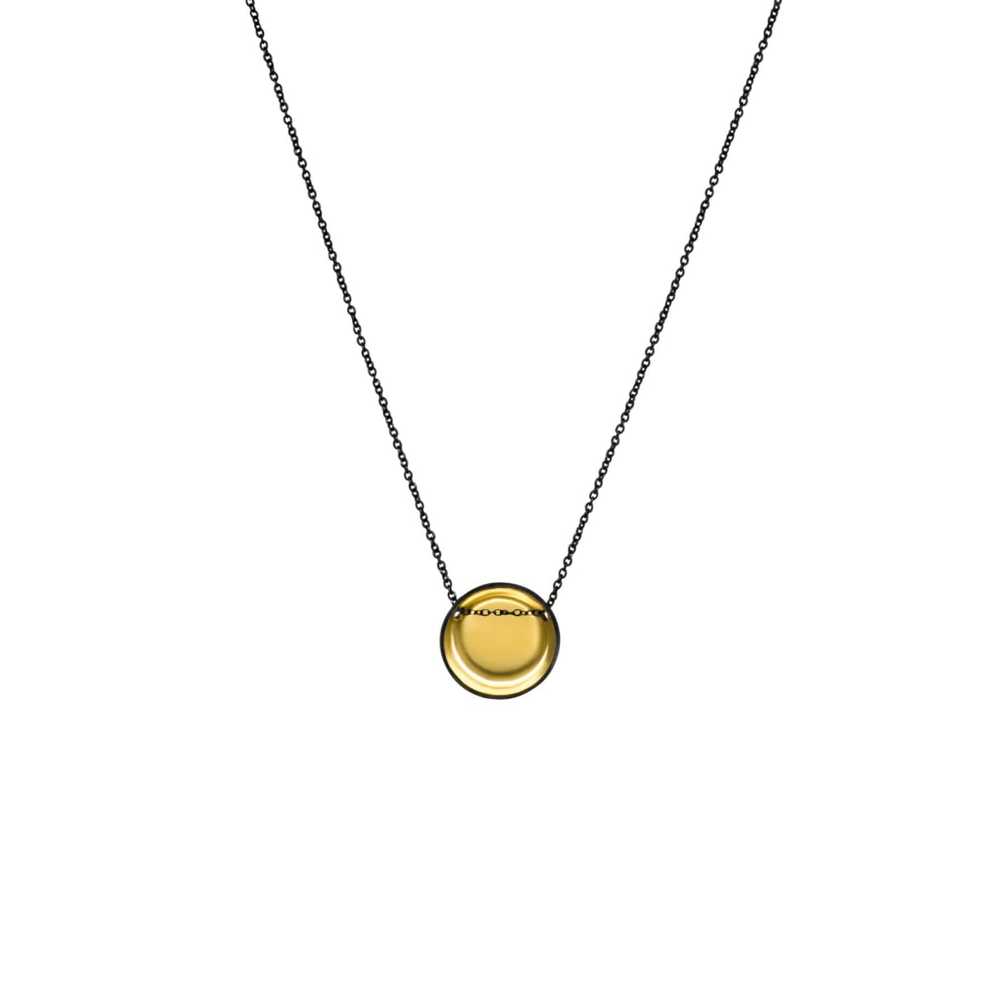 Gold and Charcoal Bowl Necklace
