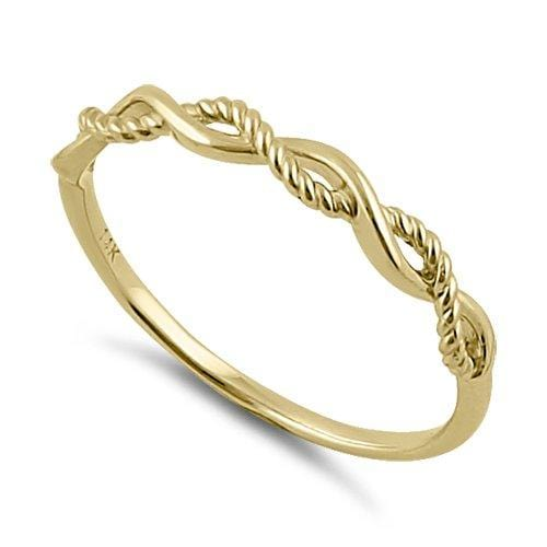 MyJulz - Rope and Wave 14k Gold Ring