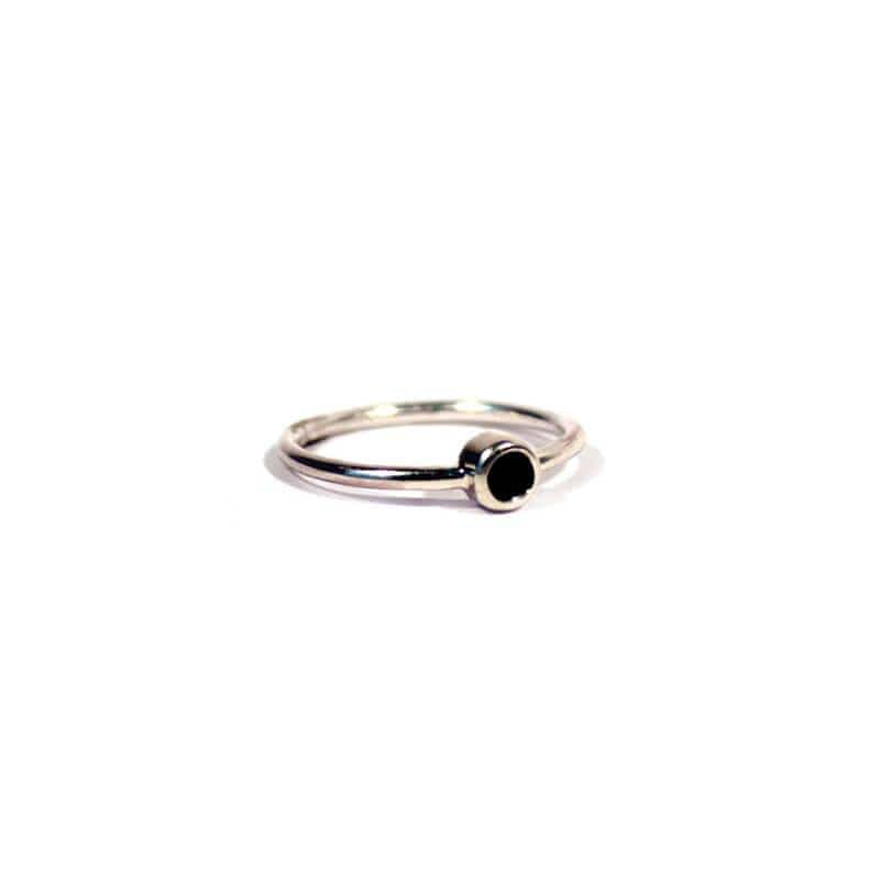 MyJulz - Silver Onyx Ring (Sterling Silver with Onyx Semi-Precious Stone)
