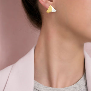 MyJulz - Gold and Silver Envelop Earrings