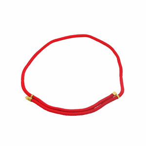 MyJulz - Subtle and Sweet (Red) - Embellished rope necklace with 22k gold brass caps