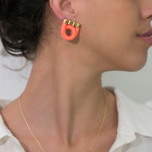 Funky pink earrings for girls who like colourful jewellery