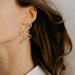 Big Squiggle Earrings