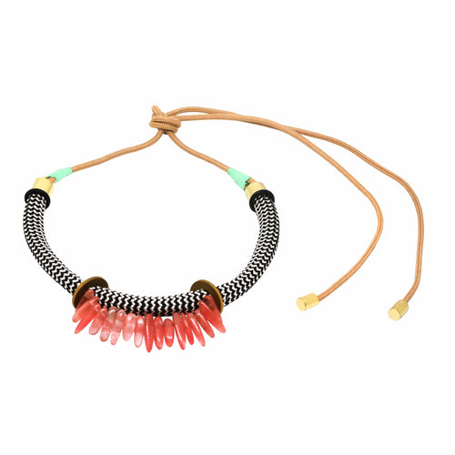 MyJulz - African inspired Warrior Pink Peal Necklace