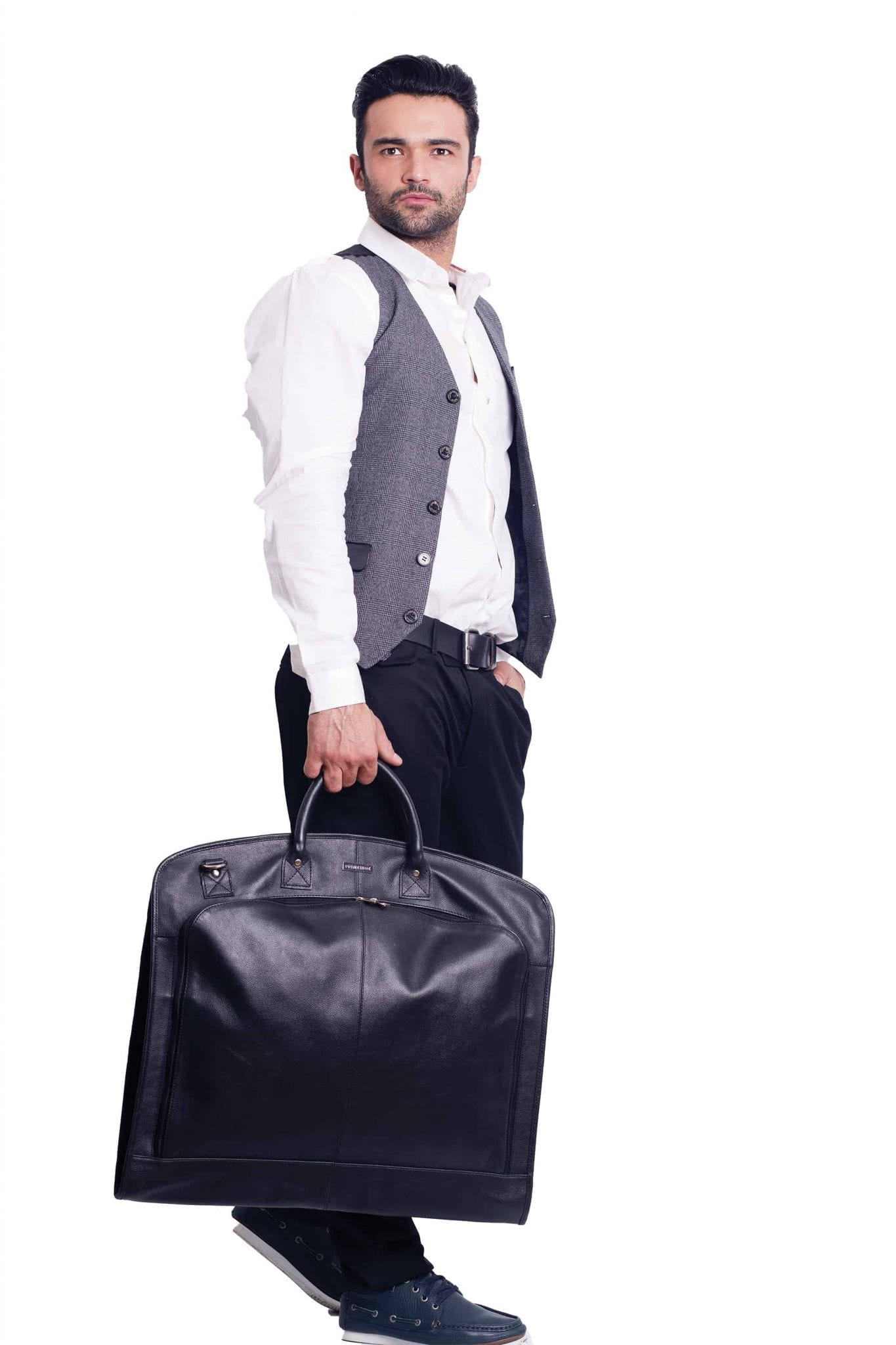 Men's Leather Suit Garment Carriers