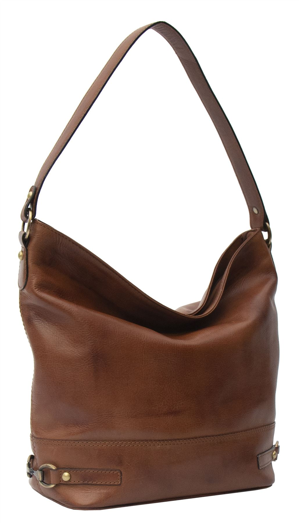 Ridgeback Leather Hobo Shoulder Handbag - 679