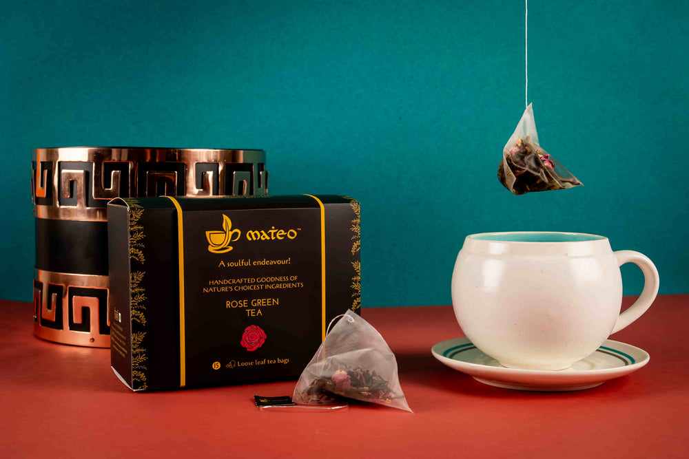 Load image into Gallery viewer, Rose Green Tea - Mateo tea