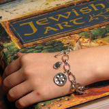 Passover Pesach Seder Bracelet Silver. Great gift to a mother or a loved one for Passover.