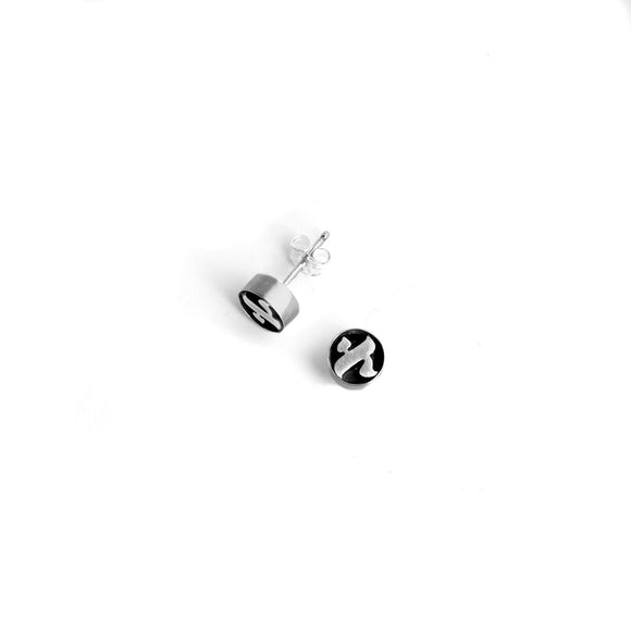 Alef Studs Earrings Silver