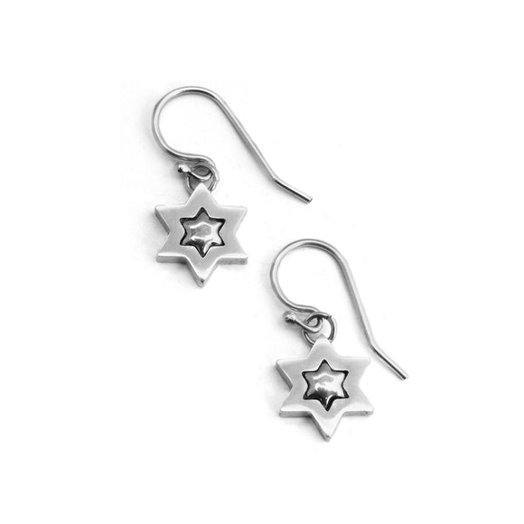 Star of David Earrings Silver