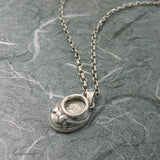 Baby Shoe 2 Pictures  Locket Sterling Silver