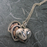 Puffy Heart 4 Pictures Locket Sterling Silver