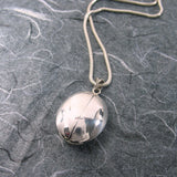 Ladybug Oval 2 Pictures  Locket Sterling Silver