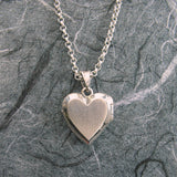 Small Heart Ahava (Love) Cut-out Locket Sterling Silver