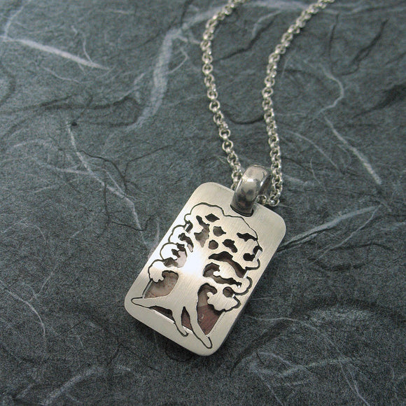 Tree Of Life Rectangular Locket Sterling Silver