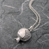 Small Pomegranate Locket Sterling Silver