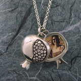 Large Pomegranate Locket Sterling Silver