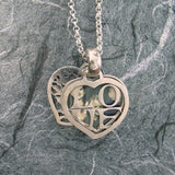Tree Of Life And Love 2-Sided Heart Locket Sterling Silver
