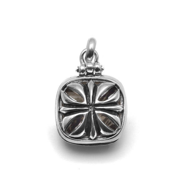 Maltese Cross Locket Sterling Silver Men's