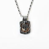 Menorah Locket Sterling Silver