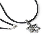 Star of David Lion of Judah Pendant Necklace Silver Leather Cord Leather Cord Bar-Mitzvah Boys, Teens