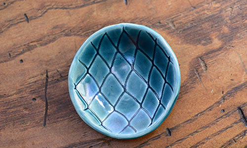 Pottery Salt Cellar - Fishing Net