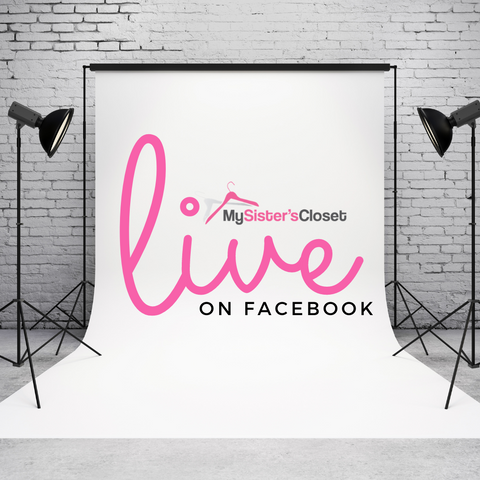Follow and Watch the Live Videos From My Sister's Closet Chicago.  Items, brands and styles for women, children, teens & home
