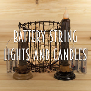 Battery String Lights and Candles