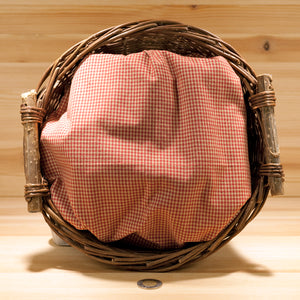 Homespun Cotton Fabric | Red and Wheat Fine Check