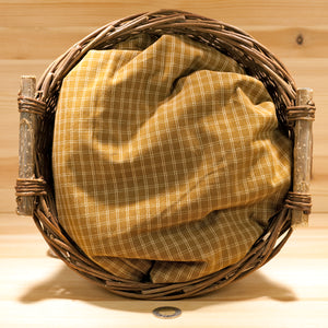 Homespun Cotton Fabric | Golden Brown Oatmeal Check