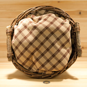Homespun Cotton Fabric | Brown and Light Brown Check