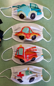 2 Ply Cotton Masks, Smaller for kids, 3 to 7 years