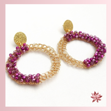 Load image into Gallery viewer, Purple Crochet Earrings