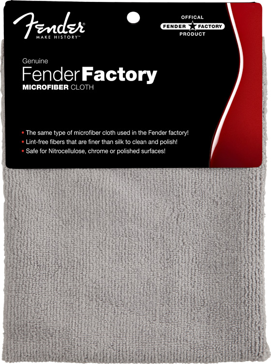 Fender® Factory Microfibre Cloth, Grey