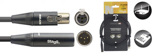 N-Series Audio Cable - Mini 4pin XLR M  / Mini 4pin XLR F