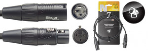 DMX cable, XLR/XLR (m/f) (3 pins), 15 m (50'), N-series