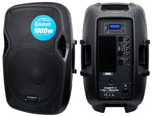 "KAM 12"" ACTIVE SPEAKER WITH BLUETOOTH - 1000w"
